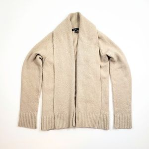 Cream Chunky Knit Gap Open Front Cardigan Sweater